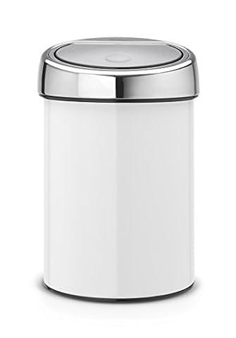 Brabantia Touch Bin, 3 L - White