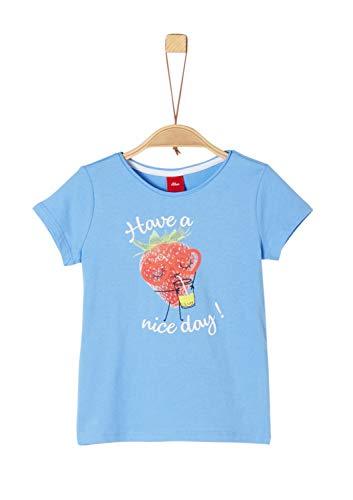 s.Oliver Mädchen 58.906.32.5720 T-Shirt, Blau (Blue 5313), 104/110 (Herstellergröße: 104/110/REG)