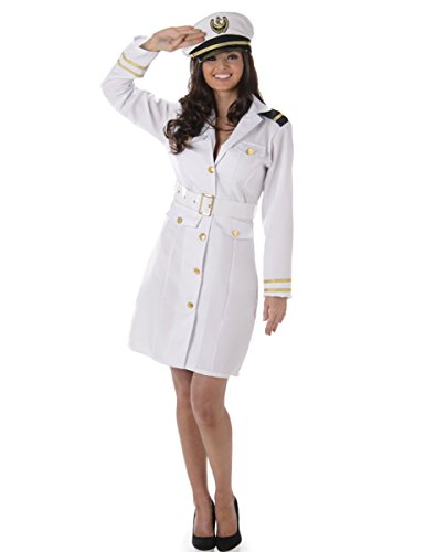 Captain Navy Officer Ladies Fancy Dress Army Military Sailor Women Adult Costume