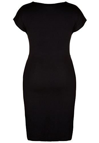 DORIS STREICH Damen Jerseykleid MIT DIAGONALEM STREIFENMUSTER schwarz-stein
