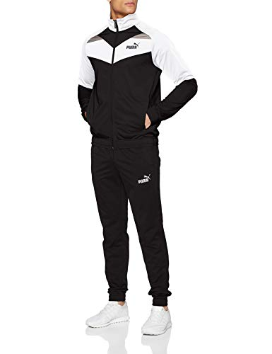 PUMA Herren Iconic Tricot Suit Cl Trainingsanzug Black, L