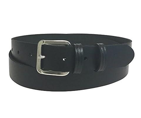Men's Leather Belt - Black Leather - 30mm(1.25