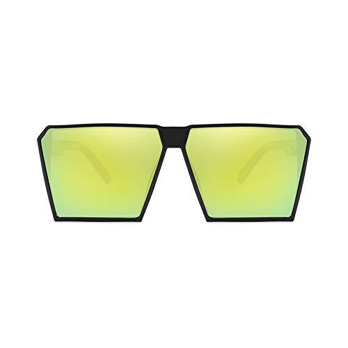 Wang-RX Mode Sonnenbrillen Frauen Vintage Square Luxus Sonnenbrille Big Frame Shades Eyewear Uv400