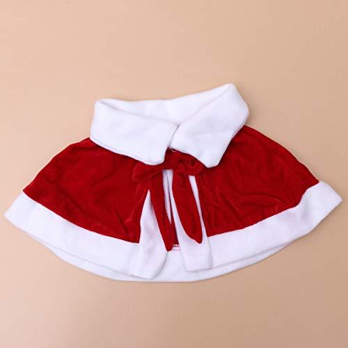 Girl Santa Claus Kostüm - Amosfun 1 Set Girls Hübsche Santa Kostüme Frau Claus Cosplay Festival Holiday Clothes Outfits mit Cape