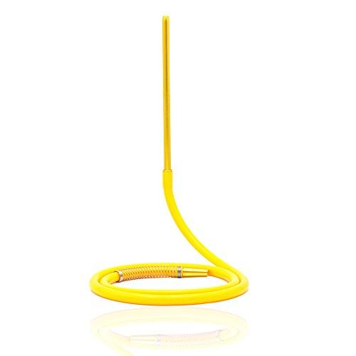 IMMIGOO Shisha Schlauch Lang Silikon Set 150cm Alumundstück 35cm Komplettset für Wasserpfeife Mit Alu-Mundstück Zur Shisha Feder Zubehör für Wasserpfeife Hitzebeständig Geschmacklos (Gelb)