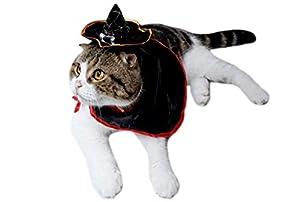 Yonfan Costumes Halloween Chien Chat Vampire Cape pour Petit Chiens Chats Chaton Chiots Costumes de Fête Vacances Halloween
