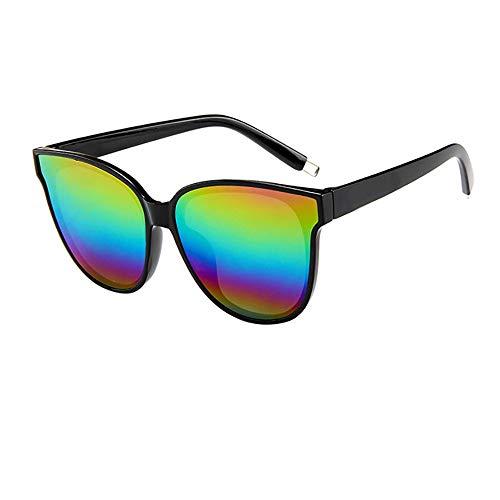 Brille Mode Damen Damen Designer übergroße flache Top Cat Eye verspiegelten Sonnenbrillen
