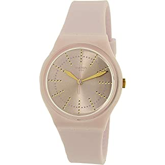 Swatch Women's Guimauve GP148 Pink Rubber Swiss Quartz Fashion Watch