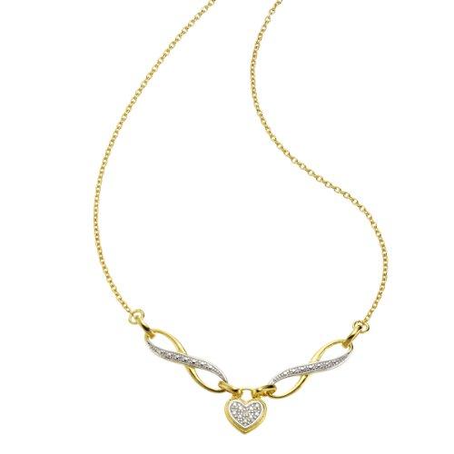 Diamonds by Ellen K. - Collier da donna con diamante (0,0106 ct), argento sterling 925, 450 mm, cod. 358250062V