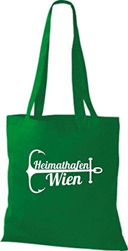 ShirtInStyle Stoffbeutel Baumwolltasche Heimathafen Wien kelly