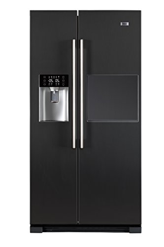 Haier HRF-628AN6 Side-by-Side/A+ / 179 cm Höhe / 420 kWh/Jahr / 375 L Kühlteil / 175 L Gefrierteil/Barfach Schneller Zugriff auf Getränke/anthrazit