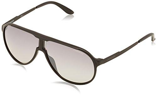 Carrera new champion ic dl5, occhiali da sole unisex-adulto, nero (matt black/grey mesh slv), 62