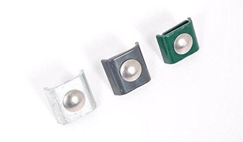 5 x Doppelstabmatten-Verbinder / Gittermatten-Verbinder / Eckverbinder aus verzinktem, anthrazit (RAL 7016) pulverbeschichtetem für Metallzäune mit einer Drahtstärke von 6/5/6 mm.