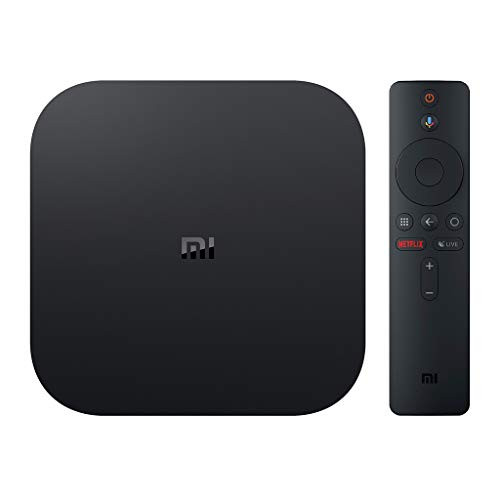 HUI.HUI Mi Box S, 4K HDR Media Player mit  Remote Streaming Player von Google Assistant, Android 8.1, Global Version - Google Remote