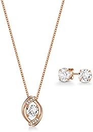 Mestige Women Glass Rose Gold Zariah Set with Swarovski Crystals