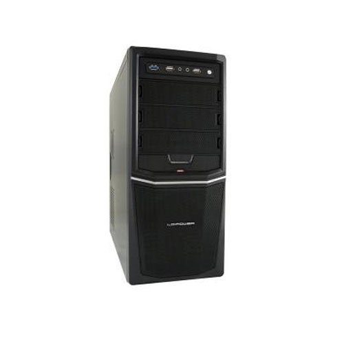 LC-Power Pro -924B Midi-Tower PC-Gehäuse inkl. 420W (3X 5,25 Externe, 4X 3,5 interne, USB 3.0) -