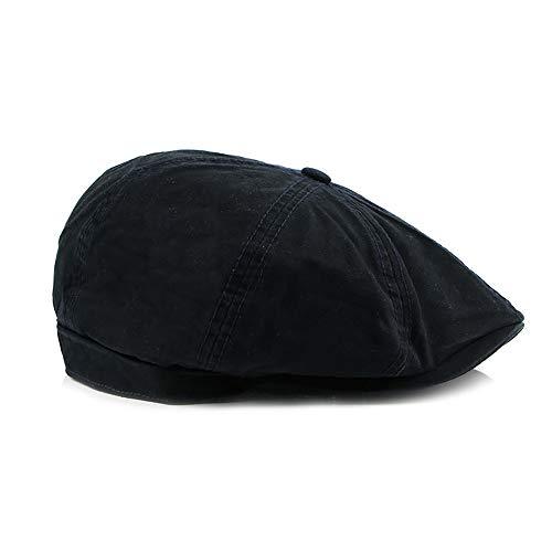 Men Cotton Flache Kappe Achteckige Gatsby Baker Elastische Britische Stil Irish Newsboy Cap Hut (Color : 2, Size : Free Size) -