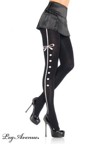 Leg Avenue - Strümpfe, 'Tuxedo' mit Nadelstreifen - 7180 (Kostüme Burlesque Avenue Leg)