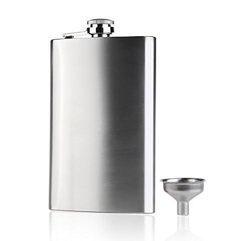 nuolux nuolux 296Flasque en acier inoxydable Vodka Whisky Flasque avec mini entonnoir