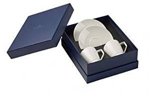 Villeroy & Boch La clasenza Nouvelle Set Expresso, 4 pièces, Porcelaine Bone China, Multicolore