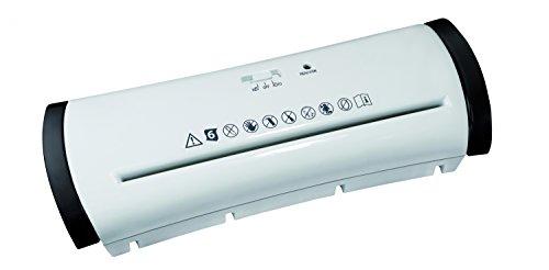 zoomyo ShredCap MA503 Aufsatz Aktenvernichter für Papierkörbe | Streifenschnitt | Bis zu 6 Blatt per Arbeitsgang | Rücklauf- und automatische Start-/Stopp-Funktion