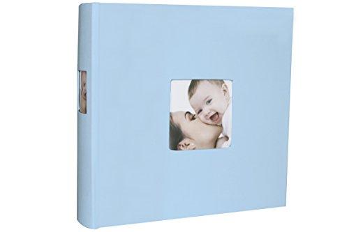 Babuqee 340610 Baby Photo Album, Fotoalbum mit Einsteckfenster für Coverfotos, blau Preisvergleich
