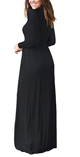 55ee54abbad0 ... VIISHOW Frauen-lange Hülsen-lose einfache Maxi kleidet beiläufige lange  T-Shirt Kleid ...