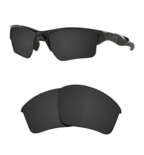 Littlebird4 Polarisierte Ersatzgläser für Oakley Half Jacket 2.0 XL Sonnenbrille - Verschiedene Optionen, Herren, Dark Black