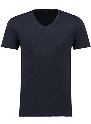 Black Rock Herren T-Shirt - V-Ausschnitt - Slim-Fit/Figurbetont - Oversize - Meliert - Modernes Kurzarm Vintage Shirt Navy S (Navy Kurzarm-pullover)