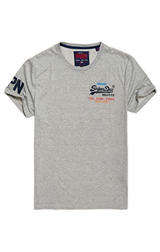 Superdry Vintage Logo Cali Fade Lite Camiseta, Gris (Grey Grit QOG), M para Hombre