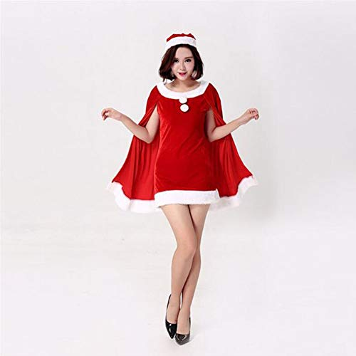CVCCV Weihnachtskostüm im Stil Einer Königin Kostüme Prinzessinkleider Rollenspielparty DS-Ausschnitt Tanzkleidung Baumwollstoff