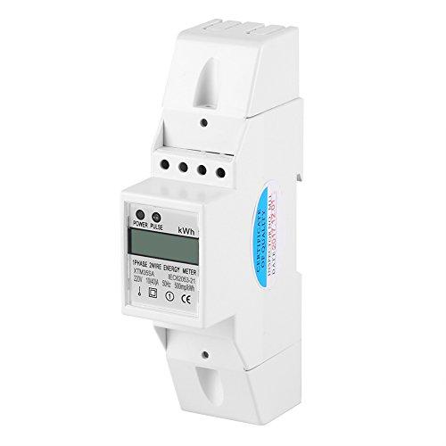 Hilitand Hutschiene Stromzähler Digital LCD einphasig DIN-Schiene Stromzähler 10-40A Elektronische KWh Meter Digitale Stromzähler