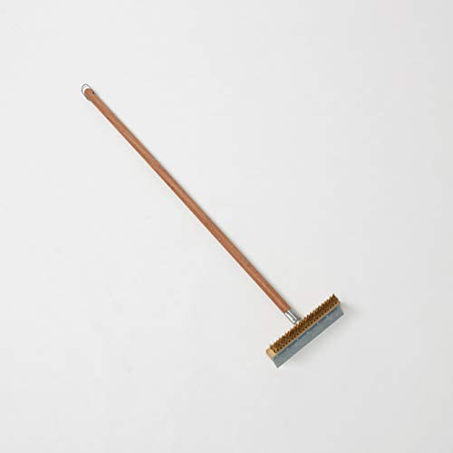 American Metalcraft 1597 Wood Handle Oven Brush, Aluminum-Threaded Tip, 40-Inch Handle