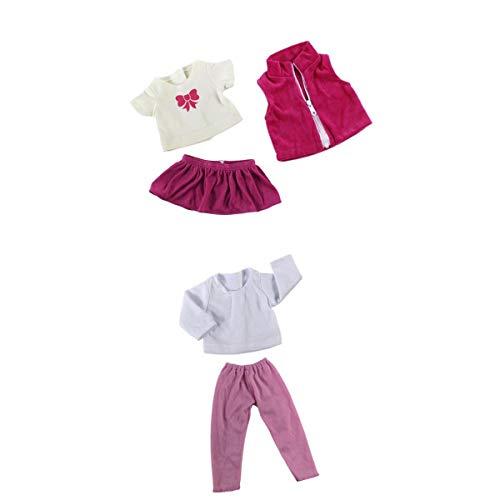 perfeclan 5 Stücke Kleidung Anzug Casual Outfits Für 18 Zoll American Doll Doll Dress Up (Dress Up Doll Für Jungen)