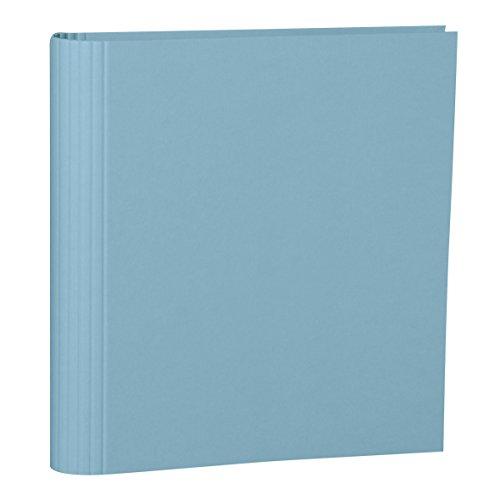 Semikolon (353305) Foto-Ordner 4 Ring ciel (hell-blau) - Foto-Mappe zum Selbstgestalten mit Efalinbezug - Basis für Foto-Album oder Fotobuch