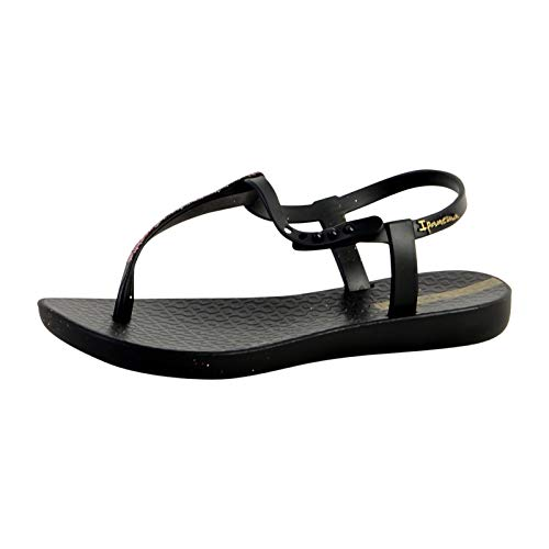 Ipanema Kids Charm Glitter 21 Plastic Slip On Sandal Black-Black-3 Size 2.5/3