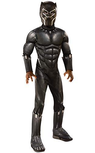 Kinder Black Kostüm Panther - Rubie´s 641048L Kostüm, Boys, Mehrfarbig, L
