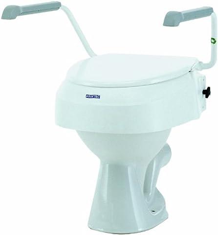 Aquatec 900 Toilettensitzerhöhung mit Armlehnen weiß