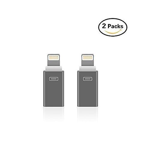 BUTEFO Micro USB à Adaptateur Lightning, Micro USB à 8 Broches. Convertisseurs Android. Transfert Micro USB vers Connecteur Lightning Apple iOS. Compatible Pour iPhone 5/5S/6/6S/6 Plus/6s Plus/SE et Téléphones Android
