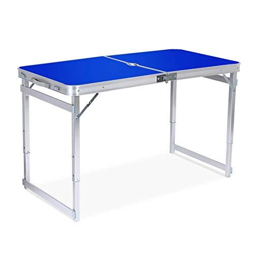 Arbeitsplatte Bar (LIW Klapptisch rechteckig Falten halb tragbar höhenverstellbar Party BBQ Garten mit tragegriff arbeitsplatte tische (1,2 mt / 4ft),Blue)