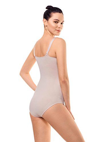 MD Shapewear Body Sexy Bodysuit Miederbody Damenmieder Slim Shaper Body Helle Hautfarbe
