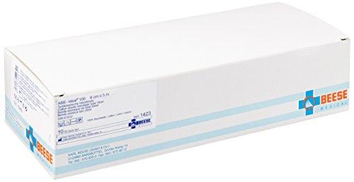 Meditrade 1423 Abe-Ideal 100 Baumwolle Textilelastische Idealbinde zur Kräftigen Kompression Der Extremitäten, 5 m Länge x 6 cm Breite, Weiß (10-er pack)
