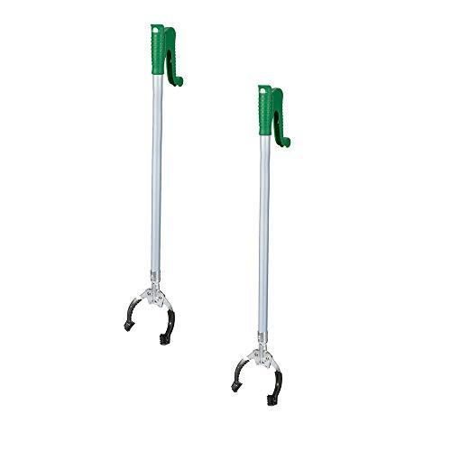 JIGAN Reacher Grabber Tool 100cm Extra langes, handliches Mobilitätshilfsmittel mit Drehgriff, Reaching Assist Tool für Müllabfuhr, Müllzange, Armverlängerung -