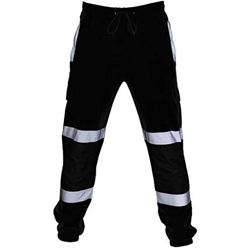 WQIANGHZI Pantaloni Pantaloni Uomo Tasche Laterali, Uomini Casual Lavoro Taschino Pants Alta visibilità Sport All'Aperto Jogging Sportivi Tuta Slacks