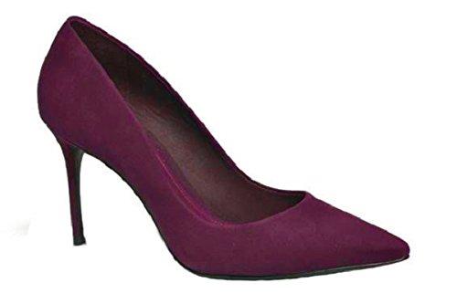 Escarpin en Daim Model Charlysse par HGilliane Design Eu 33 au 44 Violet