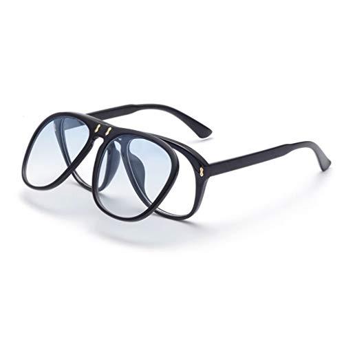 Fliegend occhiali da sole retrò vintage donna uomo occhiali da sole polarizzati con flip-cover unisex occhiali da sole uv400 lente specchiata ultraleggero
