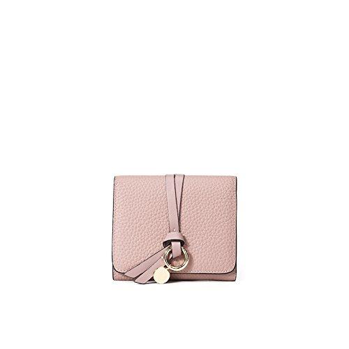 Yvonnelee Donne Della Signora Frizione Lungo Della Borse Borsa cuoio genuino Della Carta Portafoglio Leather Titolare Rosa