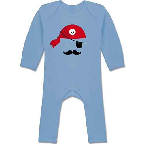 Shirtracer Karneval und Fasching Baby - Pirat Kostüm - 3-6 Monate - Babyblau - BZ13 - Baby-Body Langarm für Jungen und Mädchen (Baby Kostüm Piraten Monate 3-6)