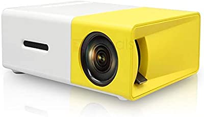 Naisha YG300 400LM Portable Mini Home Theater LED Projector with Remote Controller, Support HDMI, AV, SD, USB Interfaces ( White &Yellow )