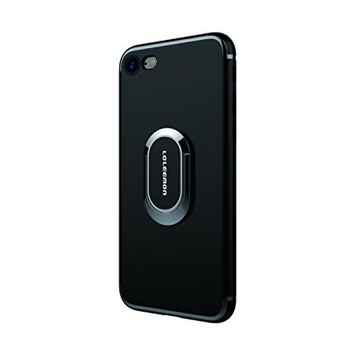 Custodia per iPhone 7 plus con Anello da Kickstand da LOLEEMON, Custodia Girevole a 360 Gradi per iPhone 7 plus Doppio Strato Protezione Antiurto per Apple iPhone 7 plus (iPhone) (iphone 7 plus, blue) Black